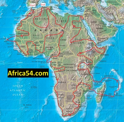 Africa54 map