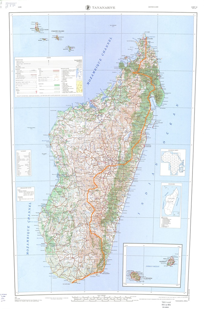 Hiking Across Madagascar Map