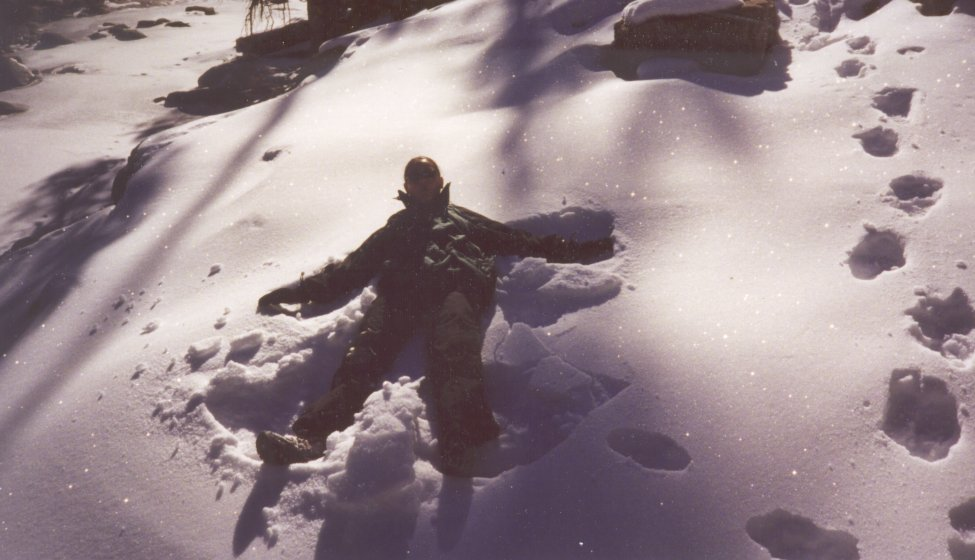 You call that a snow angel?