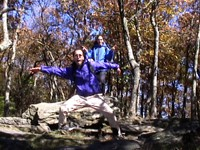 Celebrating on Springer Mountain! October 16, 2001
