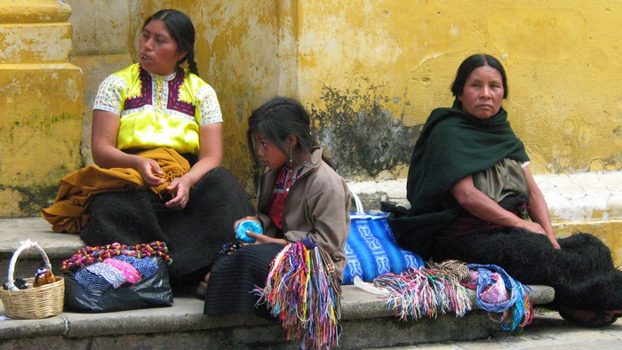 Mayan women selling stuff in Chiapas, Mexico
