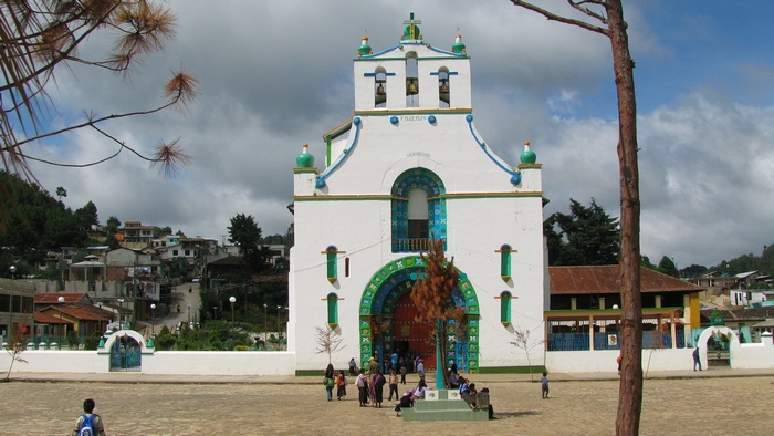 Church, Southern Mexico in Chiapas