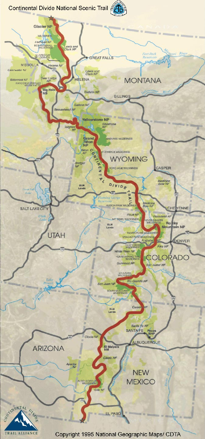 continental divide On november 10,1978, the president signed the national parks and recreation act amending the national trails act of 1968 the amended legislation addressed the proposed continental divide national scenic trail (cdnst) congress directed the forest service to prepare and submit a comprehensive.