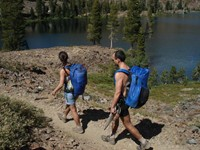 Our Gossamer Gear backpacks on the PCT were so light that doing 50km a day wasn't so hard
