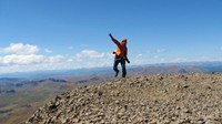 Summit of San Luis Peak. Although not part of the CDT, I can't resist a 14er that is so near the trail. I had to bag it!