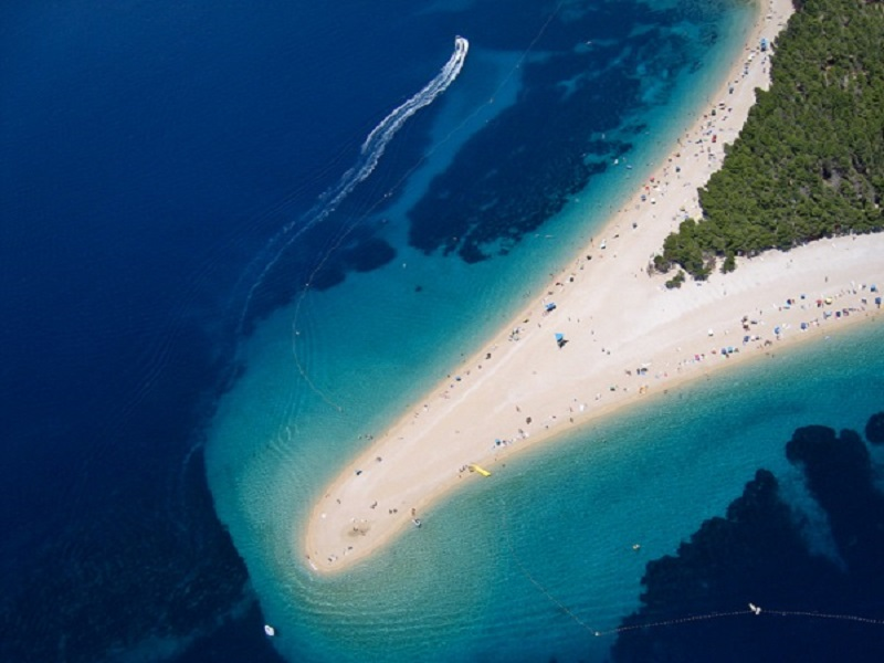 Golden Cape beach in Croatia