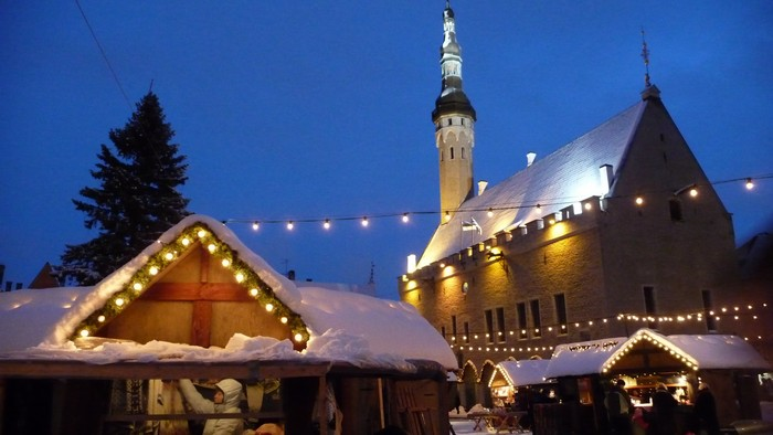 The Town Hall in Tallinn's Old Town is perfect at Christmas.