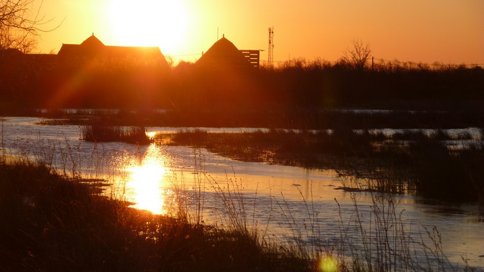 Sunset in the Danube Delta