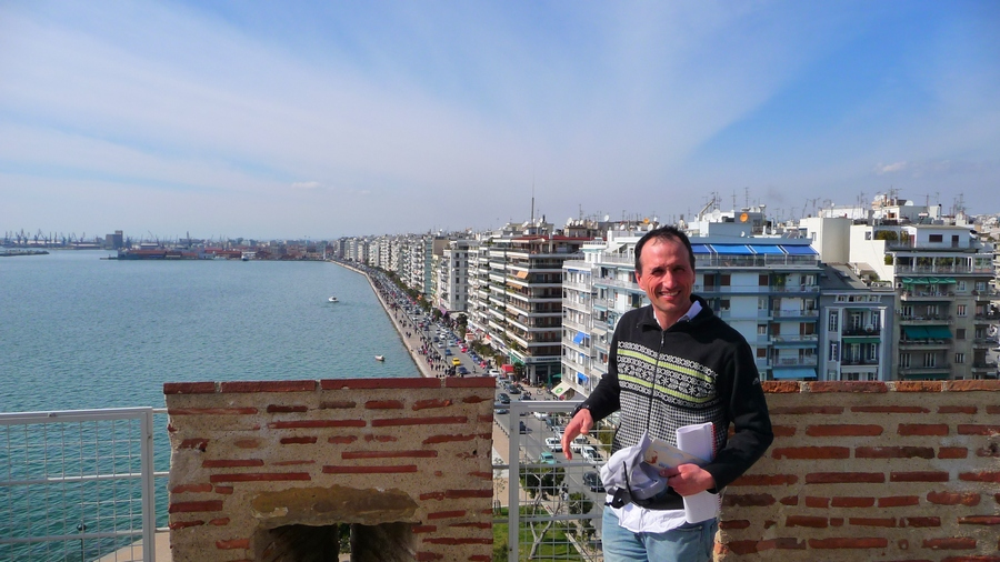 Francis on The White Tower of Thessaloniki, Greece
