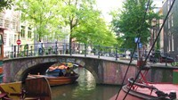 Canals everywhere in Amsterdam!