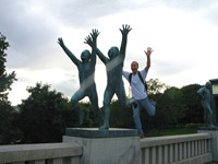 Vigeland Sculpture Park in Oslo. How can these statues run faster than me?!