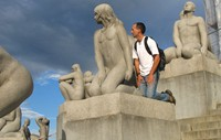 Vigeland Sculpture Park. I'm the only guy in Norway with a natural tan.