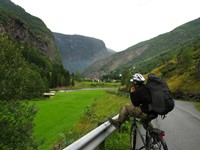 Looking towards Flam. Francis is taking a break on the final stretch.