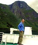 On a ferry admiring the fjords