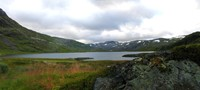 The Rallarvegen bike route feels like biking through the Sierra Nevada. Maiu stiched this cool panorama together.