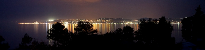 Night view from Crveni Vrh