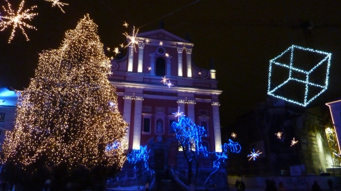 Capital of Slovenia during Xmas