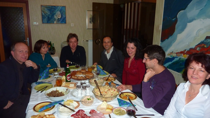 New Years Eve dinner in Slovenia
