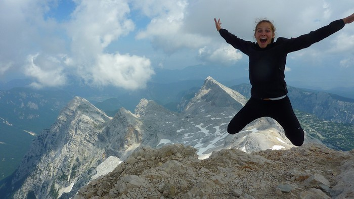 Anamarija Mismas is officially a Slovenian on summit of Mt. Triglav