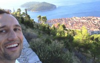 In the early morning I hiked to the top of a small mountain next to Dubrovnik. At the top there is an abandoned fort where I could see where the Serbs had been while they shelled the city.