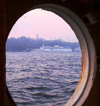 After a 30 hour boat trip, I woke up in my cabin, looked out the window, and saw Istanbul.