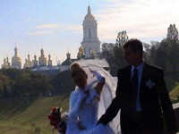 Here I am getting married to my Ukrainian wife. Just kidding...