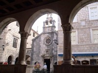 In the center of Korcula is a charming church.