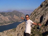 A bit later, we made halfway up the mountain. The fjords of Kotor were impressive.
