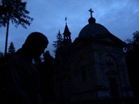 Dusk in the most beautiful cemetery in Eastern Europe (in Lviv).