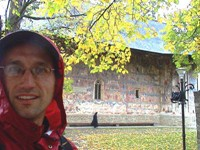 I was enjoying the painted monasteries of Bucovina.