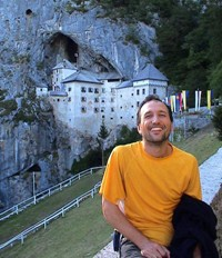 By August 28 I was at the fascinating Postojna's castle with the Spaniards. The castle is embedded in the cave, making it extremely difficult to attack and offering some natural escape routes for Erasmus, who once lived here. He would go through secret passages out of the cave and pick berries during a siege, waving them to his enemies to show that they weren't starving.