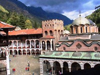 The setting of the Rila Monastery is truly magical! It's nestled in a pristine valley of the green Rila Mountains.