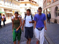 I hitchhiked and toured Slovenia with these three friendly Spaniards.