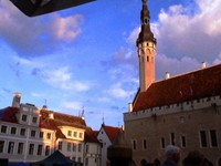 Sunset in Tallinn, the charming capital of Estonia, was spectacular.
