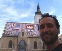 The coolest looking church I've seen in Eastern Europe. Awesome roof!