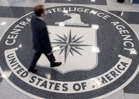 The CIA probably doesn't even know that this guy just stepped on their logo