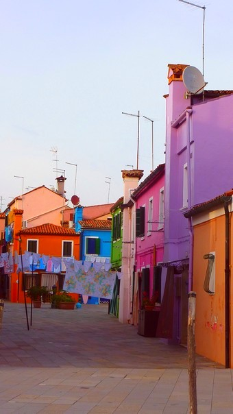 Laundry day on the street on Burano