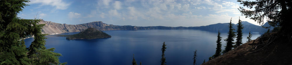 Crater Lake National Park in Oregon was one of the most spectacular sights on the PCT. No picture does it justice.