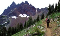 Three Fingered Jack was a tempting side trip, but not smart when Maiu was wearing flip flops.