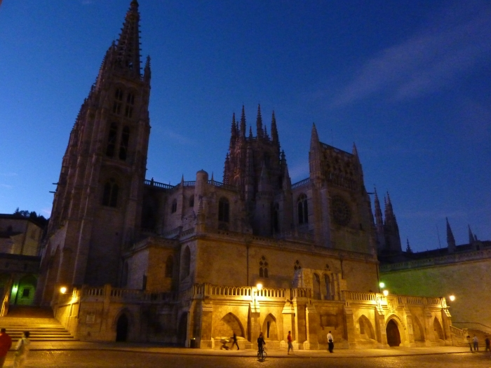 Church in Burgos, Spain on the Camino Santiago