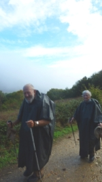 This elderly French couple started in Switzerland and went to Santiago in two big section hikes. They plodded along at a slow, but steady pace. Inspiring!