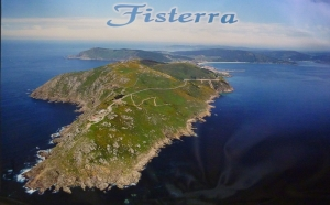 Aerial view of Fisterra, Spain. It really does feel like the end of the earth.